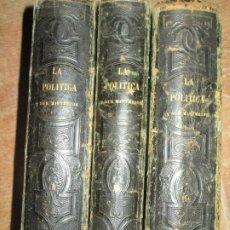 Libros antiguos: LA POLITICA SUS MISTERIOS EL LIBRO DE SATANAS 1869 MADRID TOMOS 1 3 Y 4. Lote 223824631