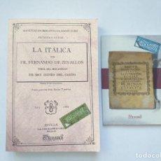 Libros antiguos: 2 LIBROS FACSÍMILES RELATIVOS A ITÁLICA E HÍSPALIS. HISTORIA DE ANDALUCÍA ESPAÑA ROMANA ADRIANO. Lote 237186115