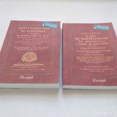 Libros antiguos: FRANCISCO GARCÍA CABERO: INSTITUCIONES DE ALBEYTERIA & ADICIONES (1773 & 1792). FACSÍMIL VETERINARIA. Lote 222874696