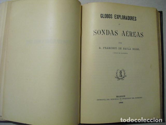 1904 GLOBOS EXPLORADORES O SONDAS AEREAS CAPITAN DE PAULA ROJAS (Libros Antiguos, Raros y Curiosos - Ciencias, Manuales y Oficios - Otros)