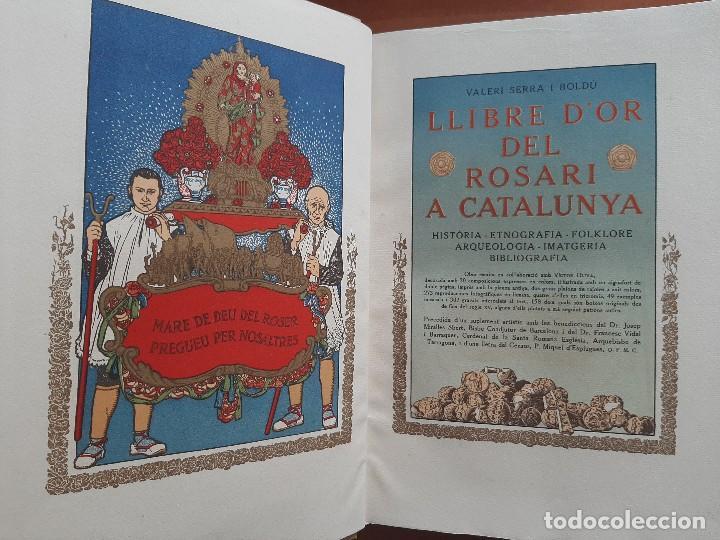 1925 LLIBRE ROSARI D ´OR A CATALUNYA - SERRA I BOLDU , VALERI / EDICIÓN DE BIBLIÓFILO (Libros Antiguos, Raros y Curiosos - Literatura Infantil y Juvenil - Otros)