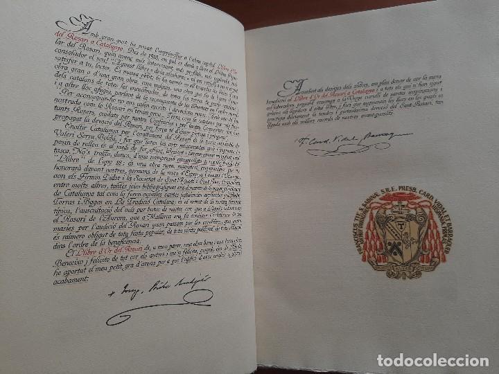 Libros antiguos: 1925 LLIBRE ROSARI D ´OR A CATALUNYA - SERRA I BOLDU , VALERI / EDICIÓN DE BIBLIÓFILO - Foto 7 - 224273516