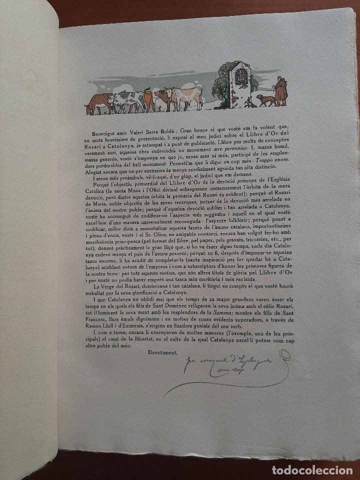 Libros antiguos: 1925 LLIBRE ROSARI D ´OR A CATALUNYA - SERRA I BOLDU , VALERI / EDICIÓN DE BIBLIÓFILO - Foto 8 - 224273516