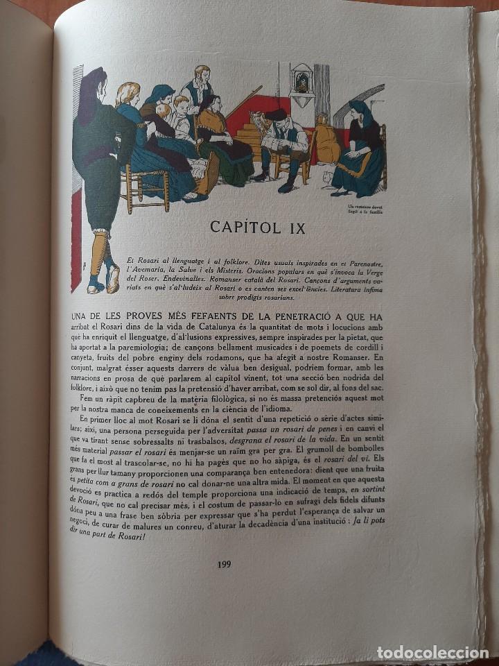 Libros antiguos: 1925 LLIBRE ROSARI D ´OR A CATALUNYA - SERRA I BOLDU , VALERI / EDICIÓN DE BIBLIÓFILO - Foto 9 - 224273516