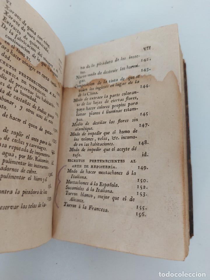 Libros antiguos: TOMO Nº 11 - SECRETOS RAROS DE ARTES Y OFICIOS - AÑO 1807 - LOZA, TURRÓN, MAZAPAN, BIZCOCHOS, CONSER - Foto 7 - 224322635