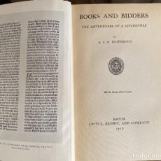 Libros antiguos: ROSENBACH, A. S. W. BOOKS AND BIDDERS.. Lote 224506611