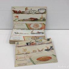 Libros antiguos: RECETAS DE COCINA WALY. 58 RECETAS/FICHAS CREACIONES EVA. AÑOS 50-60. Lote 224689132