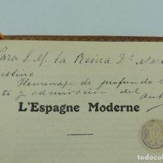 Livres anciens: LIBRO LESPAGNE MODERNE DEDICADO DE LA S.M. REINA DOÑA MARIA CRISTINA OBJETO DE COLECCION. Lote 224875273
