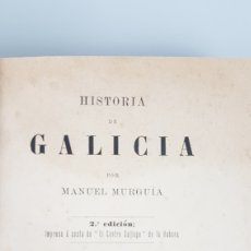 "Libros antiguos: HISTORIA DE GALICIA"" POR MANUEL MURGUIA. TOMO PRIMERO - 2ª EDICION - LIBRERIA DE EUGENIO CARRÉ. 1901. Lote 225206885"