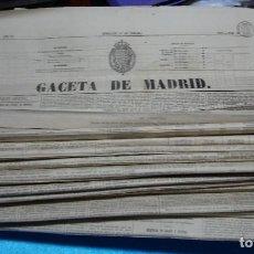 Libros antiguos: GACETA DE MADRID ISABEL II- 1861 LOTE DE 16 EJEMPLARES,GRAN DOCUMENTO- IMPORTANTE LEER Y VER FOTOS. Lote 225372533
