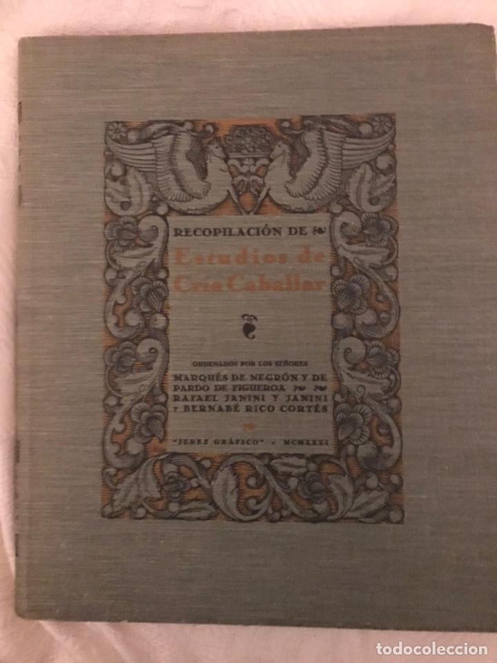 Libros antiguos: Recopilación de estudios de cría caballar por el marqués de Negrón y equitacion hipica caballos - Foto 4 - 112132702
