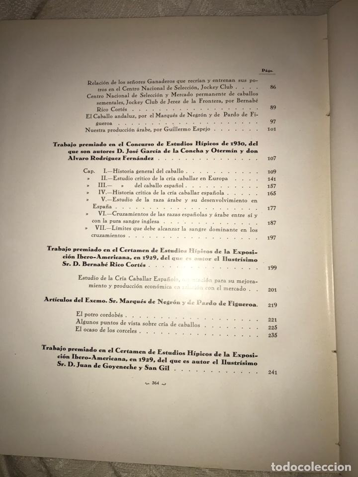 Libros antiguos: Recopilación de estudios de cría caballar por el marqués de Negrón y equitacion hipica caballos - Foto 16 - 112132702