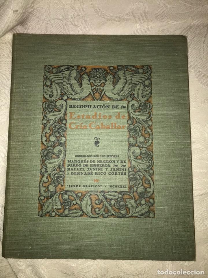 Libros antiguos: Recopilación de estudios de cría caballar por el marqués de Negrón y equitacion hipica caballos - Foto 18 - 112132702
