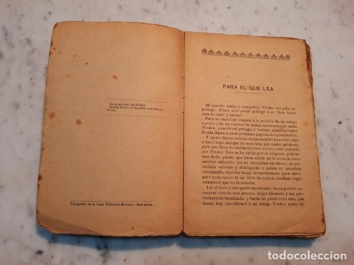 Libros antiguos: EL COCINERO UNIVERSAL O ARTE DE GUISAR AL ESTILO MODERNO - A. DE NAIT - MAUCCI, 1906, 5ª ED., BCN - Foto 6 - 240735670