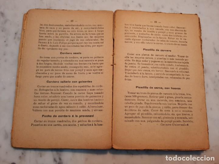 Libros antiguos: EL COCINERO UNIVERSAL O ARTE DE GUISAR AL ESTILO MODERNO - A. DE NAIT - MAUCCI, 1906, 5ª ED., BCN - Foto 8 - 240735670