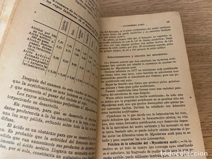 Libros antiguos: PACOTTET - GUITTONNEAU 1922 - AGUARDIENTES Y VINAGRES - - Foto 5 - 226442525