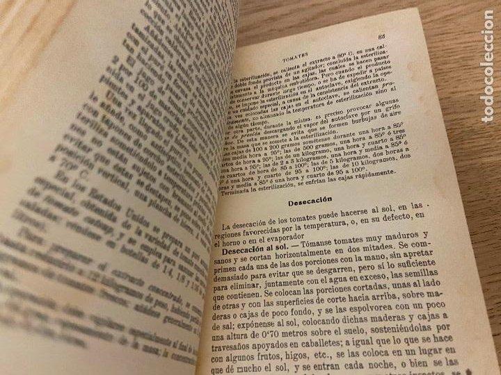 Libros antiguos: LAS CONSERVAS DE LEGUMBRES - ANTONIO ROLET - 1923 - Foto 3 - 226443265