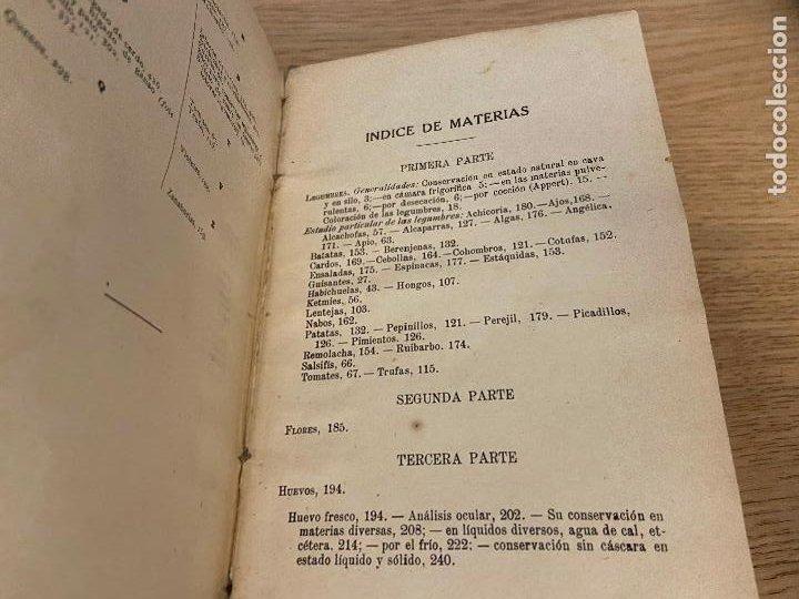 Libros antiguos: LAS CONSERVAS DE LEGUMBRES - ANTONIO ROLET - 1923 - Foto 5 - 226443265