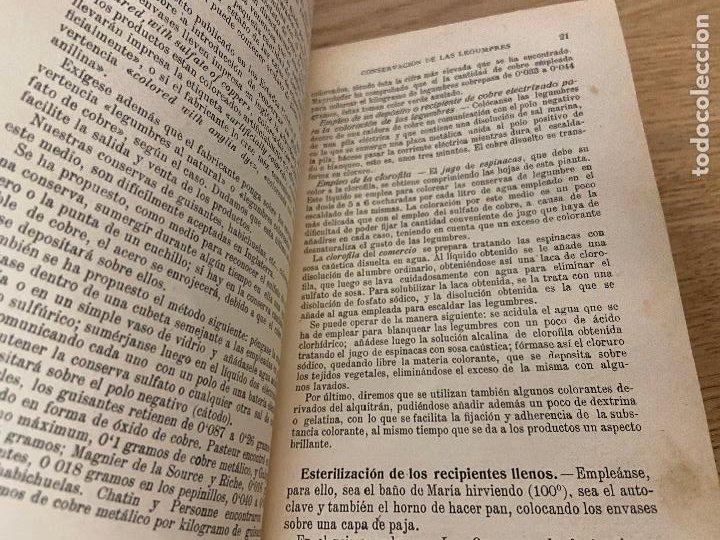 Libros antiguos: LAS CONSERVAS DE LEGUMBRES - ANTONIO ROLET - 1923 - Foto 11 - 226443265