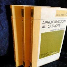 Libros antiguos: APROXIMACIÓN AL QUIJOTE. APROXIMACIÓN A LA HISTORIA DE ESPAÑA . LA HUMANIDAD PREHISTÓRICA. LB9. Lote 226450955