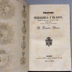 Libros antiguos: TRATADO DE HERÁLDICA Y BLASON +APÉNDICE,FRANCISCO PIFERRER.MADRID 1854. Lote 226420625
