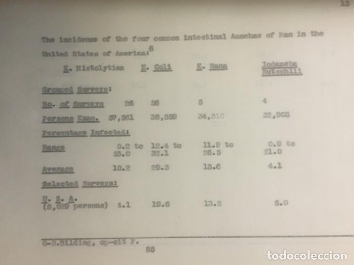 Libros antiguos: TESIS DOCTORAL EN PUERTO RICO : EL PARÁSITO AMOEBAE DEL HOMBRE. SYLVIA MONTESERÌN 1949. LIBRO UNICO - Foto 5 - 154743306