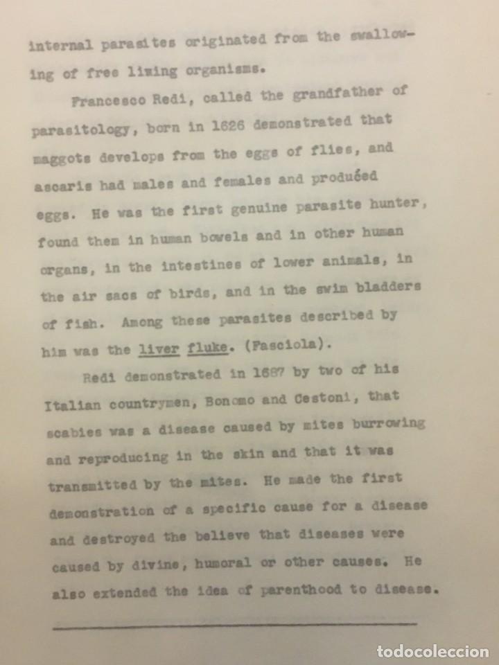 Libros antiguos: TESIS DOCTORAL EN PUERTO RICO : EL PARÁSITO AMOEBAE DEL HOMBRE. SYLVIA MONTESERÌN 1949. LIBRO UNICO - Foto 9 - 154743306