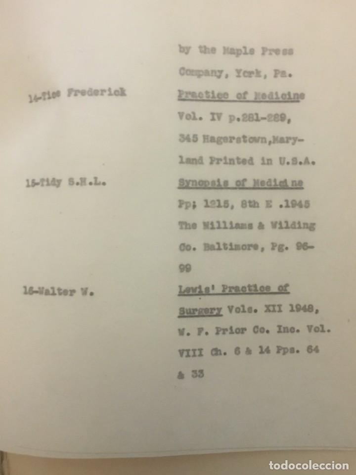 Libros antiguos: TESIS DOCTORAL EN PUERTO RICO : EL PARÁSITO AMOEBAE DEL HOMBRE. SYLVIA MONTESERÌN 1949. LIBRO UNICO - Foto 11 - 154743306