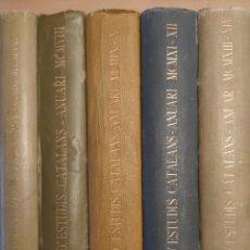 Libros antiguos: ANUARI INSTITUT D'ESTUDIS CATALANS 5 TOMOS DE 1907 A 1914 HISTORIA CATALUNYA. Lote 227584685