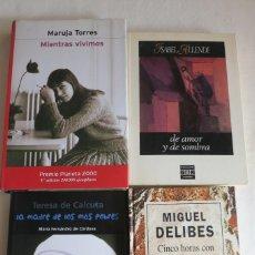 Libros antiguos: LOTE DE CUATRO LIBROS - MIGUEL DELIBES - MARUJA TORRES - ISABEL ALLENDE -TERESA DE CALCUTA CON ENVI. Lote 227720175