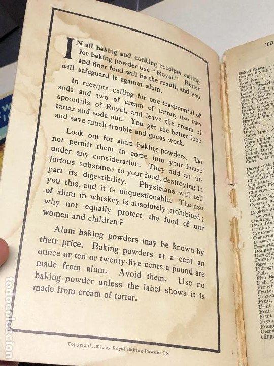Libros antiguos: Libro de cocina. Royal Baker and Pastry Cook. Copyright 1911. New York, USA - Foto 2 - 227782395