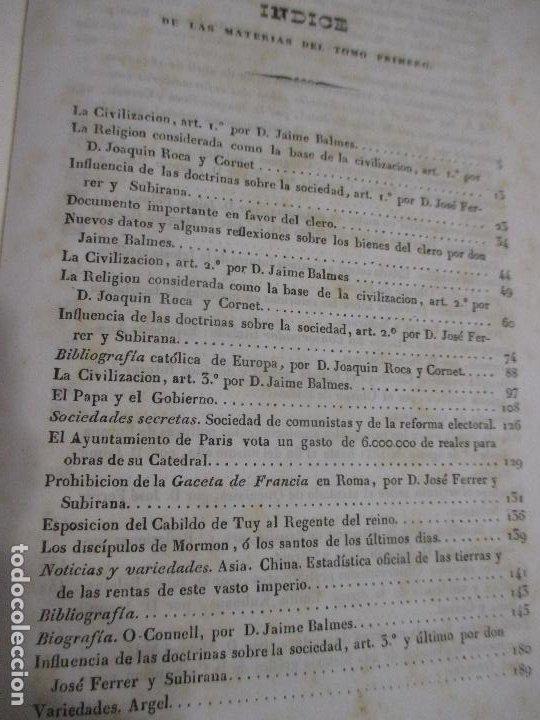 Libros antiguos: La civilización, revista religiosa, filosófica política y literaria de Barcelona tomos 1 y 2 1841-42 - Foto 6 - 227796770