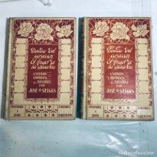 Livres anciens: DEUDA DEL CORAZON-ELANGEL DE LA GUARDA. JOSE SELGAS. 2 VOL. MONTANER Y SIMON 1909. Lote 227863050