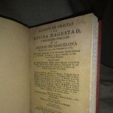 Libros antiguos: REGOCIJOS PUBLICOS NACIMIENTO INFANTES D.CARLOS Y D.FELIPE - PIFERRER AÑO 1783 - PAZ CON INGLATERRA.. Lote 227963815