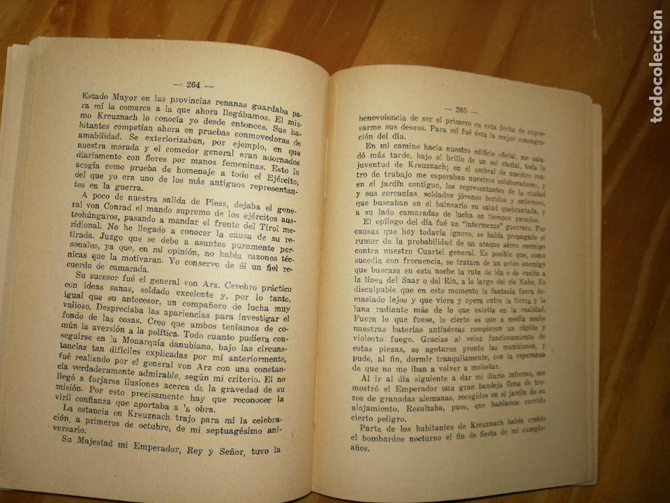 Libros antiguos: MEMORIAS DE MI VIDA.MARISCAL VON MINDENBURG.1920.TIPOGRÁFICA RENOVACIÓN.BOBLIOTECA EL SOL.W - Foto 3 - 227978295