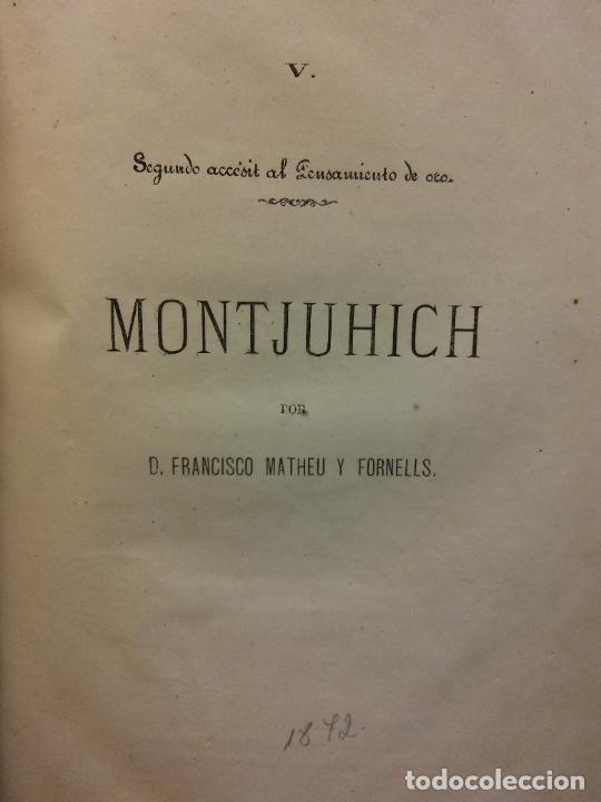 MONTJUHICH. D. FRANCISCO MATHEU Y FORNELLS. 1872 (Libros Antiguos, Raros y Curiosos - Otros Idiomas)