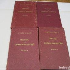 Libros antiguos: DANIEL DANJON TRATADO DE DERECHO MARÍTIMO ( 4 TOMOS) Q4207T. Lote 228126320