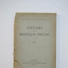 Libros antiguos: MANCOMUNITAT CATALUNYA-ANUARI DE LES BIBLIOTEQUES POPULARS-ANY 1922-LLIBRE ANTIC-VER FOTOS-(K-1240). Lote 228344815