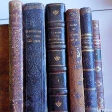 Libri antichi: LOTE LIBROS DEL SIGLO XIX , EN MUY MAL ESTADO DE CONSERVACIÓN. Lote 228723120