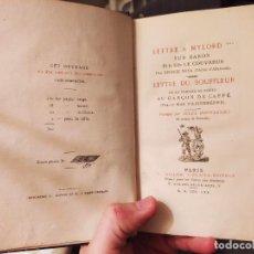 Libros antiguos: LETREE A MYLORD, SUR BARON ET LA DILE LE COUVREUR, GEORGES WINK. ED. L. WILLEM. PARIS. 1870. Lote 228977195
