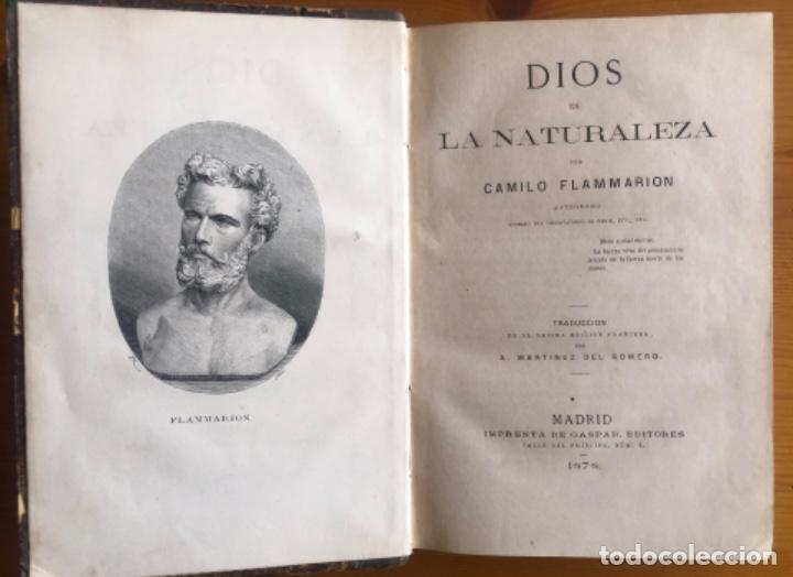 DIOS EN LA NATURALEZA- CAMILO FLAMMARION- MADRID 1878 (Libros Antiguos, Raros y Curiosos - Pensamiento - Otros)