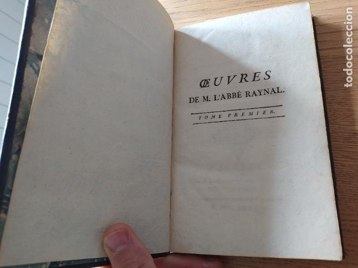 Libros antiguos: Oeuvres de M. LAbbe Raynal: Tome premiere, Publicado por J. L. Pellet, Geneve (1784) - Foto 2 - 229317690