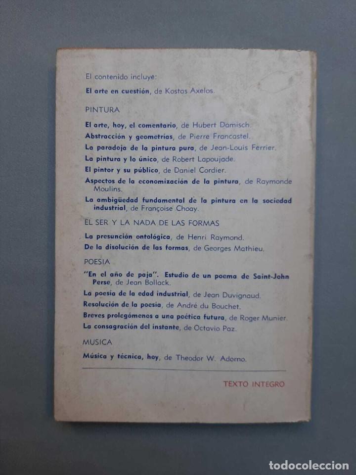 Libros antiguos: Theodor W Adorno Pierre Francastel El Arte en la Sociedad Industrial 1972 - Foto 3 - 229417300