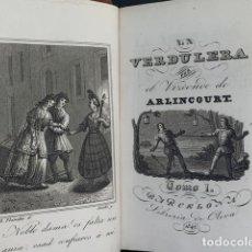 Libri antichi: LA VERDULERA POR EL V.DE ARLINCOURT. SEGUNDA EDICIÓN 1842 (DOS TOMOS). Lote 229429675