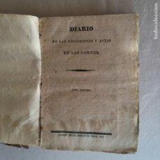 Libros antiguos: DIARIO DE LAS DISCUSIONES Y ACTAS DE LAS CORTES. TOMO 3º. CADIZ, 1811.. Lote 229674440