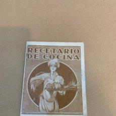 Libros antiguos: RECETARIO DE COCINA / ACEITE GIRALDA. Lote 230001705