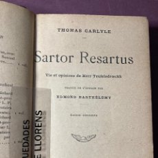 Libros antiguos: THOMAS CARLYLE. SARTOR RESARTUS. TRD. EDMOND BARTHELEMY. MERCVRE DE FRANCE. 1904. Lote 230023355