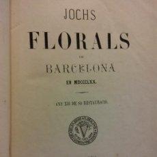 Libri antichi: JOCHS FLORALS DE BARCELONA. ANY XII DE SA RESTAURACIÓ,1870. BARCELONA. LLIBRERIA RELIGIOSA Y CIENTIF. Lote 230031435