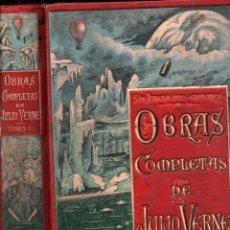 Libros antiguos: OBRAS COMPLETAS DE JULIO VERNE TOMO 1 (SÁENZ DE JUBERA). Lote 230036690