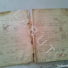 Livros antigos: MANUSCRITO ELECTRICIDAD SEVILLA SANTA JUSTA FERROCARRILES TRENES CR7. Lote 230423335